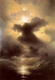 "Ivan Konstantinovič Ajvazovskij (Russian, 1817-1900), ""Хаос. Сотворение мира/Chaos. The Genesis"" (1841)"
