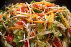A refreshing Thai Summer Slaw with lemongrass, lime and chili vinaigrette!
