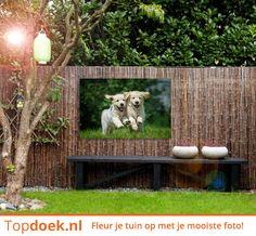 Bij Topdoek bestel je niet alleen canvassen voor in huis, maar ook voor in je tuin. Fleur je tuin op met een mooie foto! www.topdoek.nl