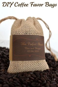 Tips for the coffee favors; you can make the bags with this tutorial or you can also buy them in bulk