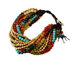 A Colorful #Gift to Brighten Someone's Day: 15 Stranded Bead Bracelet