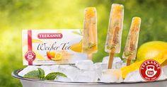 """""""Weißer Tee Mango-Zitronen-Eis – Iced Sticks"""""""