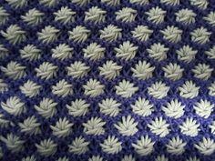 Aster flower dishcloth pattern