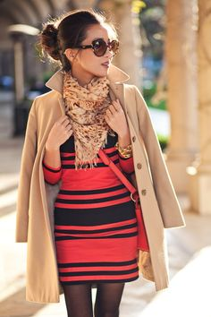 Drape your tench coat over your shoulders for a cool look- Its a nice alt way of wearing it as a full coat.