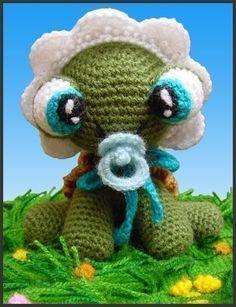 Amigurumi Pattern Crochet Baby Turtle DIY by DeliciousCrochet Crochet Amigurumi, Amigurumi Patterns, Crochet Toys, Crochet Baby, Crochet Patterns, Crochet Crafts, Crochet Projects, Diy Crochet, Crochet Ideas
