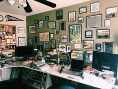 Lisa Mecham Replying to It's like peeking into my brain. My cluttered workspace. The wine on the desk may, or may not be, from the night before. Space Photos, Photo Contest, Brain, Lisa, Gallery Wall, Night, Home Decor, The Brain, Pageant Photography