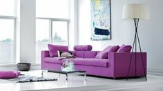 Modern purple couch - Living Room