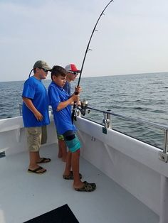 These boys had the best time - 2 keeper cobia. #cobia #takeakidfishing