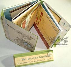 Stampin Up Album Botanical Gazette- CD Double Folder Album