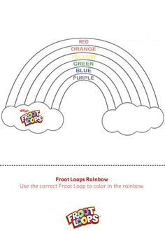 Make learning colors fun with the Froot Loops Rainbow Busy Bag! Just print off the sheet and grab some Froot Loops. Your kids will learn all of the colors of the rainbow in no time! They can even glue. Kindergarten Blogs, Preschool Learning, Classroom Activities, Preschool Crafts, Teaching, Childhood Education, Kids Education, Saint Patrick, Froot Loops