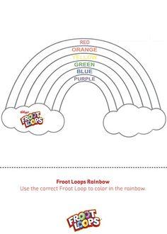 Froot Loop Rainbow Template Related Keywords Suggestions Froot