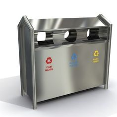 Recycle bins want to make the world better. If you want to join in the said mission, have any of these containers at your place. Models 601a and 601c are made of stainless sheet metal, and appear in stainless profile frames. On one hand, 601b and 601d editions are manufactured using durable sheet metal. In terms of capacity, 601a and 601b could each hold up to 162 liters of trash, while 601c and 601d could carry as much as 108 liters of recyclable wastes.