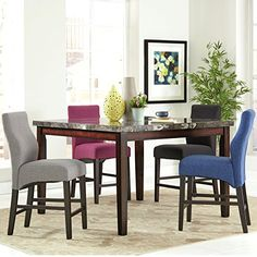 A Line Furniture Luxenberg Casual Style 9-piece Counter H... promoted