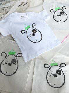 Camisetas, bodys, bolsitas merienda y tote bags, todo 100% algodón y 100% estampado a mano. www.lauraduran.com Ilustración infantil