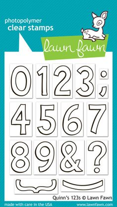 Lawn Fawn Quinn's 123s