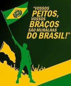Trecho do Hino Imperial do Brasil