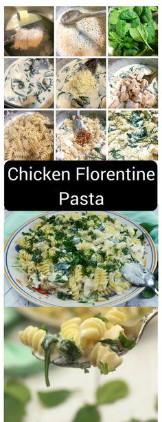 Chicken Florentine Pasta - Classic Italian American Food is a classic Italian dish that has long been one of my favorites, as a spinach lover. You will love this pasta, easily made with leftover chicken. Pasta Recipes, Dinner Recipes, Cooking Recipes, Pasta Meals, Spinach Recipes, Chicken Florentine Pasta, Italian Chicken Recipes, Recipe Chicken, Florentines Recipe