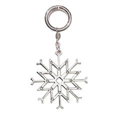 #Avon Joyful Beautiful #Snowflake Bag #Charm. For the lovers of all things winter—add a touch of snow and sparkle to your tote with key ring connector  Available in Goldtone or Silvertone. Reg. $6.99. #CJTeam #Joyful #Beautiful #New #Fashion #BagCharms #C24 Shop Avon #Gifts online @ www.TheCJTeam.com