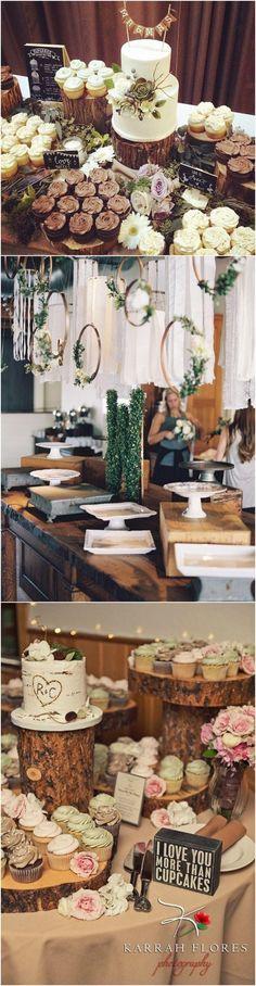 rustic vintage wedding dessert table decoration ideas for 2017