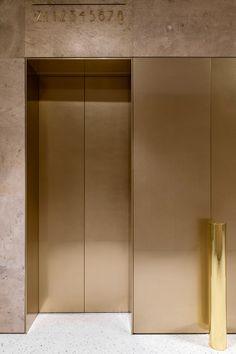 Behance :: For You Lift Design, Design Firms, Luxury Interior, Interior Architecture, Interior Design, Hotel Internacional, Elevator Design, Lobby Furniture, Mawa Design