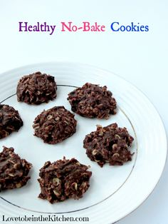 Healthy No-Bake Cookies- Made with honey and coconut oil instead of tons of sugar and butter.  So delicious and quick and fun to make!