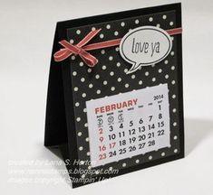 Stampin' with Nanna: Modern Medley and Kaleidoscope Calendars Homemade Calendar, Diy Calendar, Calendar Pages, Desktop Calendar, Desk Calendars, Handmade Desks, Post It Note Holders, Christmas Cards To Make, Christmas Crafts