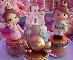 Princess , King & frog cake topper
