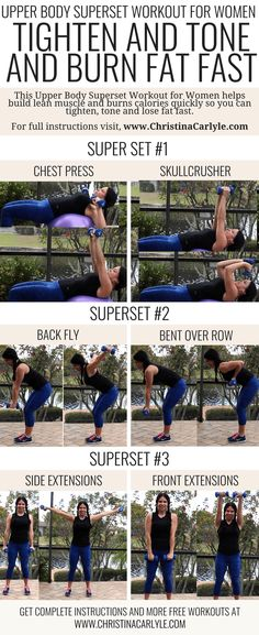 Back and Biceps Workout - Superset Workout Routine for Women