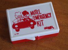 Vintage 1960s Motel Emergency Kit Gag Adult by retrowarehouse
