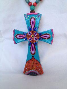 Mexican folk art cross