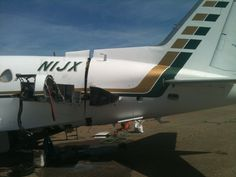 Cutting the tail off of a sabreliner