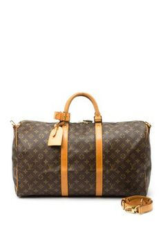 Vintage Louis Vuitton Leather Keepall 50 Bandouliere