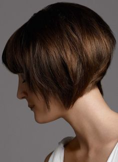 inverted bob for thick hair