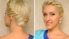 Wedding hairstyles for medium long hair Crown braid tutorial Summer greek goddess updo, via YouTube.