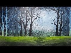 Subscribe: https://www.youtube.com/subscription_center?add_user=StudioSilverCreek Acrylic painting painted with white gesso, black acrylic paint and blue and...