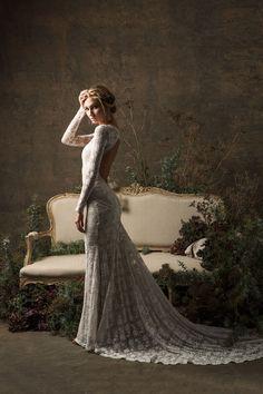 Valentina Bohemian Wedding Dress Long Sleeves Lace Gown w/ image 1 Lace Wedding Dress, Long Wedding Dresses, Bridal Dresses, Wedding Gowns, Wedding Shoes, Wedding Jumpsuit, Wedding Book, Ball Dresses, Wedding Bands
