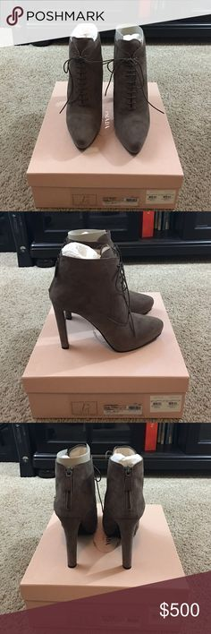 Prada suede boots in Visone size 40.5 New Prada suede boots in Visone size 40.5 New in box Prada Shoes Ankle Boots & Booties
