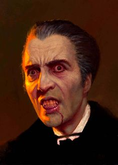 Christopher Lee as Dracula by Daniel Horne