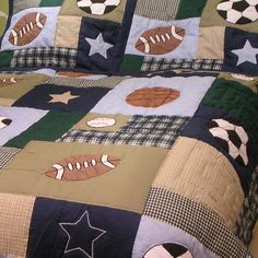 Sports Quilt Patterns for Boys | ... Nursery & Kids Childrens Bedding Boy's Quilts Sports Patch Boys Quilt