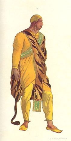 "Costume design (1914), by Léon Bakst [Левъ Самуиловичъ Бакстъ] (1866-1924), for a Venetian pirate, in ""Josephs Legende"" (1914), by Richard Strauss (1864-1949)."