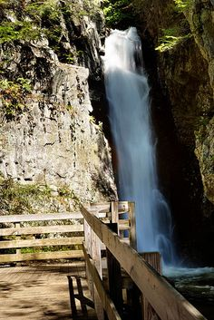 One of the Waterfalls at the Castle in the Clouds in New Hampshire.  (Beautiful place for pictures!)