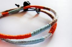 DIY Color Blocked Friendship Wrap Bracelet via the Gildled hare