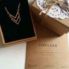 Struggle // You never know what you can do until you try // Now available at www.charmoflavender.com