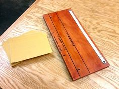 Simple sandpaper cutter made from an old hacksaw blade... It's the little things like this to make projects easier
