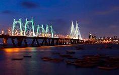 Bandra-Worli Sea Link (राजीव गांधी सेतू) in Mumbai, Mahārāshtra Beautiful World, Beautiful Places, Romantic Places, Beautiful Mess, Bandra Worli Sea Link, Places Around The World, Around The Worlds, Voyager C'est Vivre, Mumbai City