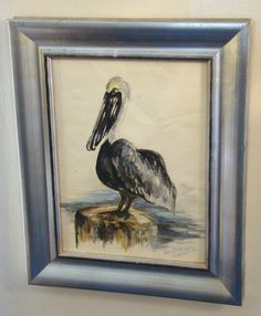 Art / Pelican / Vintage / Watercolor / Wall by EarlsBizarre, $67.00