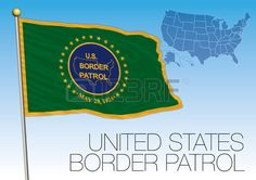 US Border Patrol flag, vector file, illustration, vector file