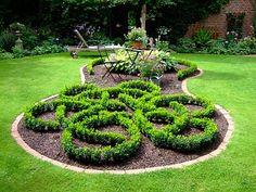 Celtic garden pattern