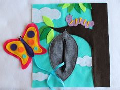 """Custom Quiet Book Page- """"Butterfly"""" - Single Page to Expand Your Personalized Quiet Book by roseinbloomcreations on Etsy"""