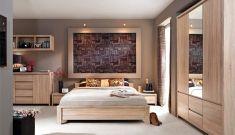 ložnice Kaspian dub sonoma bez roštu a matrace